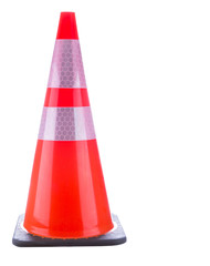 Traffic cone over white background.