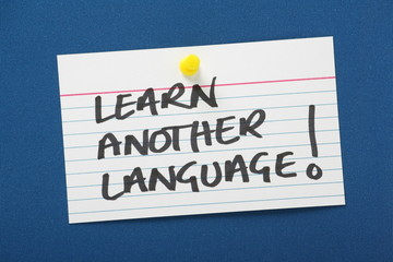 Reminder note to Learn Another Language