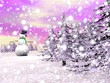 Snowman under the snow - 3D render
