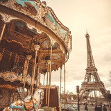 Vintage carousel in Paris