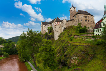 Loket castle and river