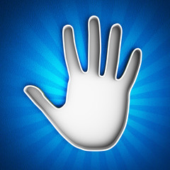 Hand print icon. Identification concept.