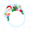 """CHRISTMAS"" banner (stamp label tag winter special offer)"