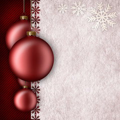 Christmas background template - baubles and blank space for text