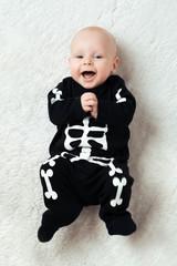 baby dressed skeleton
