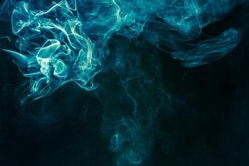 Bluish-green smoke