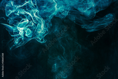 Foto op Canvas Rook Bluish-green smoke
