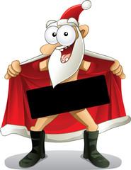 Crazy Santa - Vector Cartoon