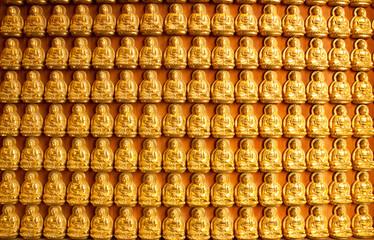 Gold Buddha in Wat thai,Thailand