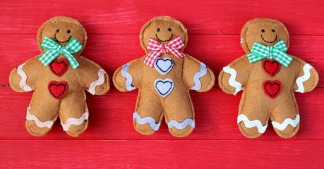 Three Festive Ginger Bread Men