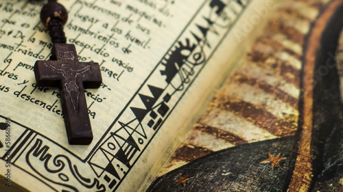 Wooden Crucifix on a Bible slider shot