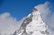 Matterhorn peak among clouds