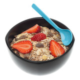 Healthy muesli breakfast isolated