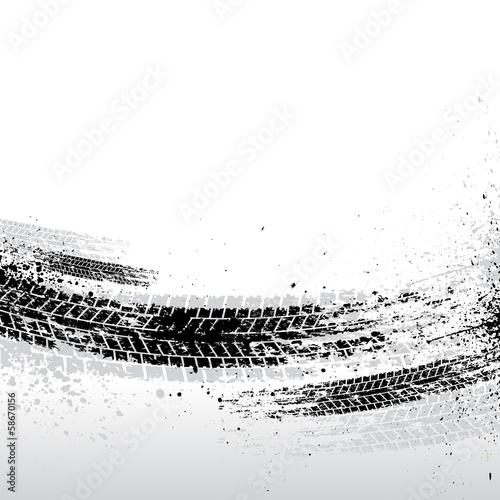 Tire tracks background - 58670156