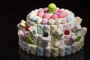 Tarta de gominolas y otras chucherías