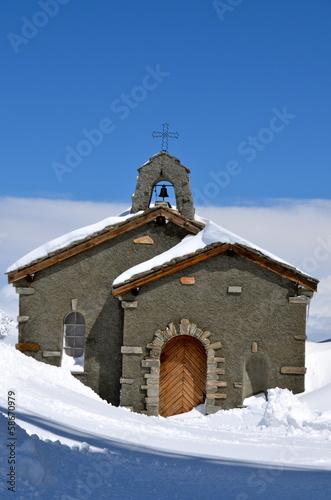 Alpine Church on Gornegrat, Zermatt, Switzerland