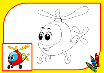 Сoloring book (helicopter)