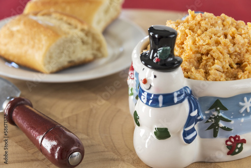 Cheese dip in winter holiday dish