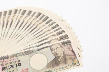 一万円札扇形