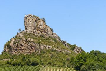 Roche de Solutré, France, bourgogne, Solutré.
