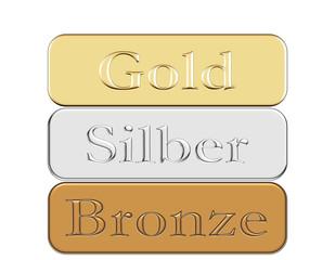 Gold silber bronze