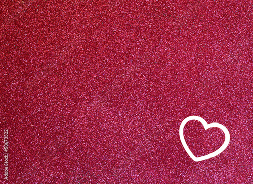 Abstract pink background with texture and heart