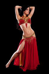 Belly Dancer in Red Costume