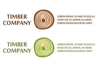 Wood logo, woodworking logotype