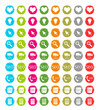 Set de iconos para web en colores