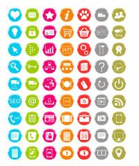 Set de iconos de colores para Web