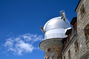 Gornegrat Observatory on the top of Swiss Alps