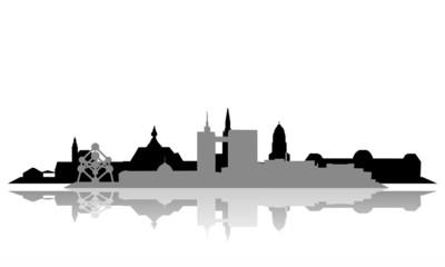 Brüssel ~ Stadt ~ City ~ Skyline ~ Horizont ~ Silhouette