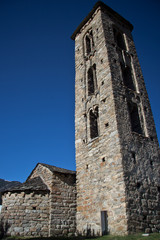 Sant Miquel romanic church located at Engolasters, Andorra