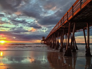Imperial Beach Pier at Sunset Southern California United State