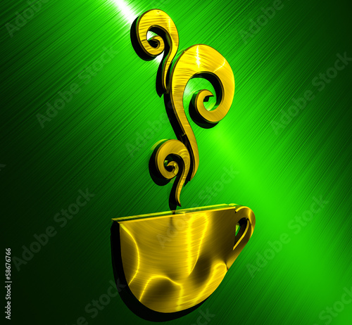 Cup Background Gold - Green