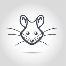 Obraz wektora szczur na białym tle