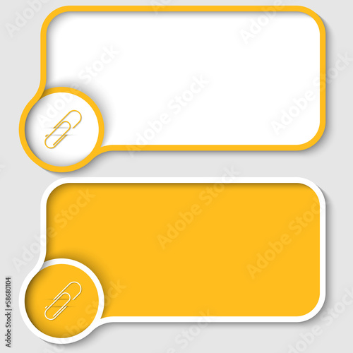 two yellow text frame and paper clip
