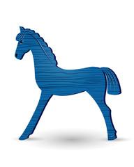 wooden foal