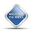 canvas print picture - welcome to hell