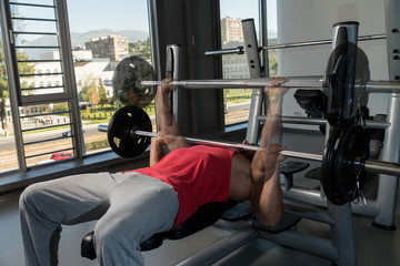 Showing How To Bench Press