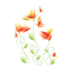 Abstract floral design, vector illustration