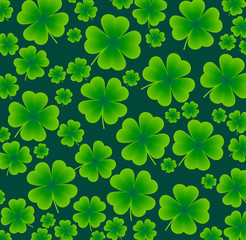 seamless background of clover to the day St. Patrick's Day