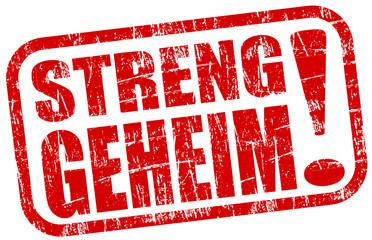 Streng Geheim Stempel  #131123-svg03