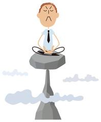 座禅するビジネスマン