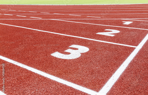 The beginning of the athletics track