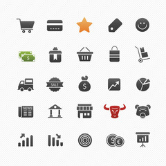 Business and shopping vector symbol icon set