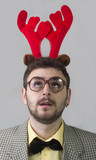 Nerd with Reindeer Ears