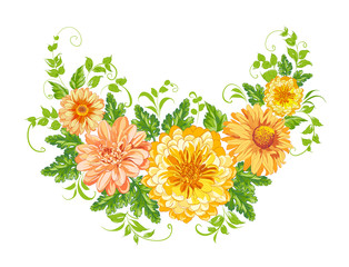 Chrysanthemum garland.