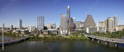 A View of the Skyline Austin at Sunny Day in Texas © kennytong