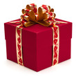 Gift with ribbon and bow.